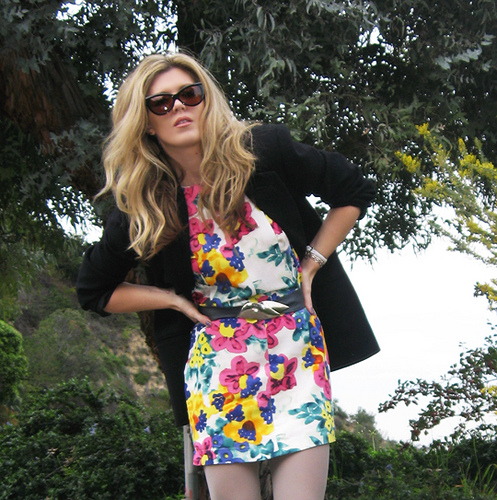 Floral dress and blazer