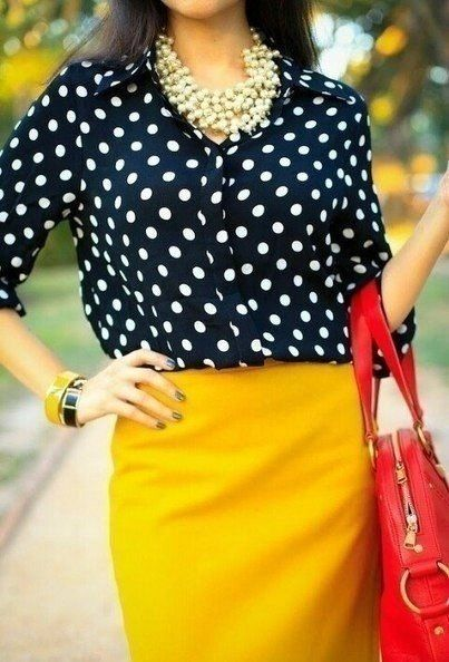 Print top and colourful skirt
