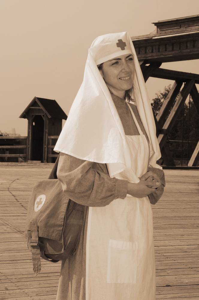Nurse in nun style uniform