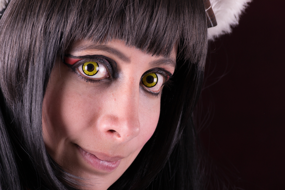 women wearing freaky contact lenses