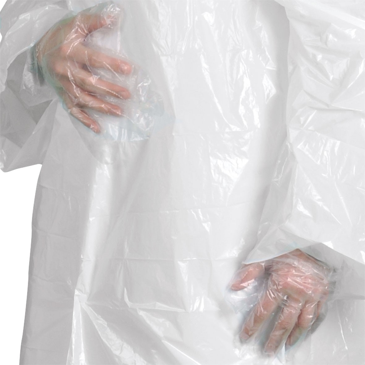 Smooth disposable gloves