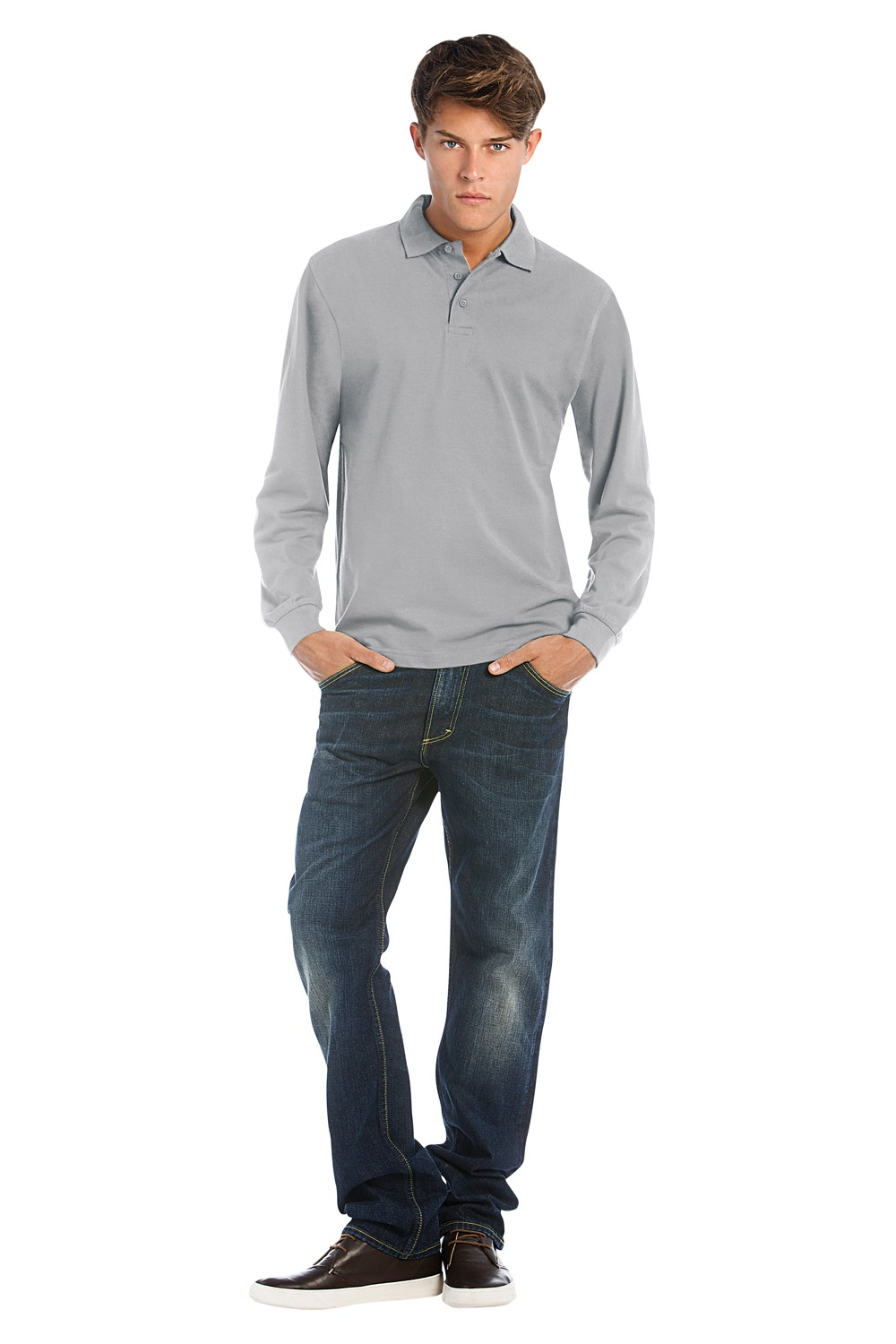 Heavymill Long Sleeve Polo Shirt