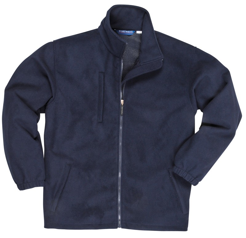 navy Laminated Fleece