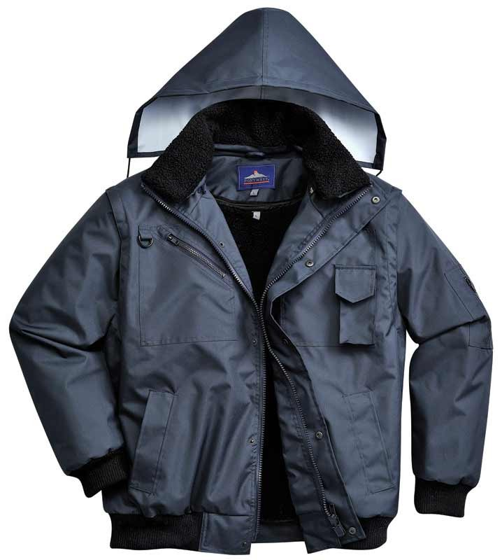 Navy 3 in one bomber jacket