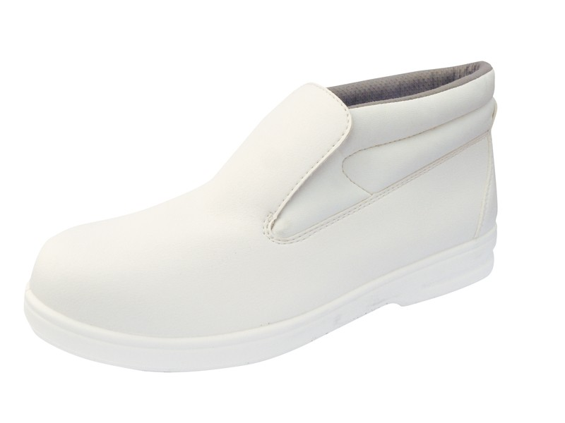 White Slip on safety boot