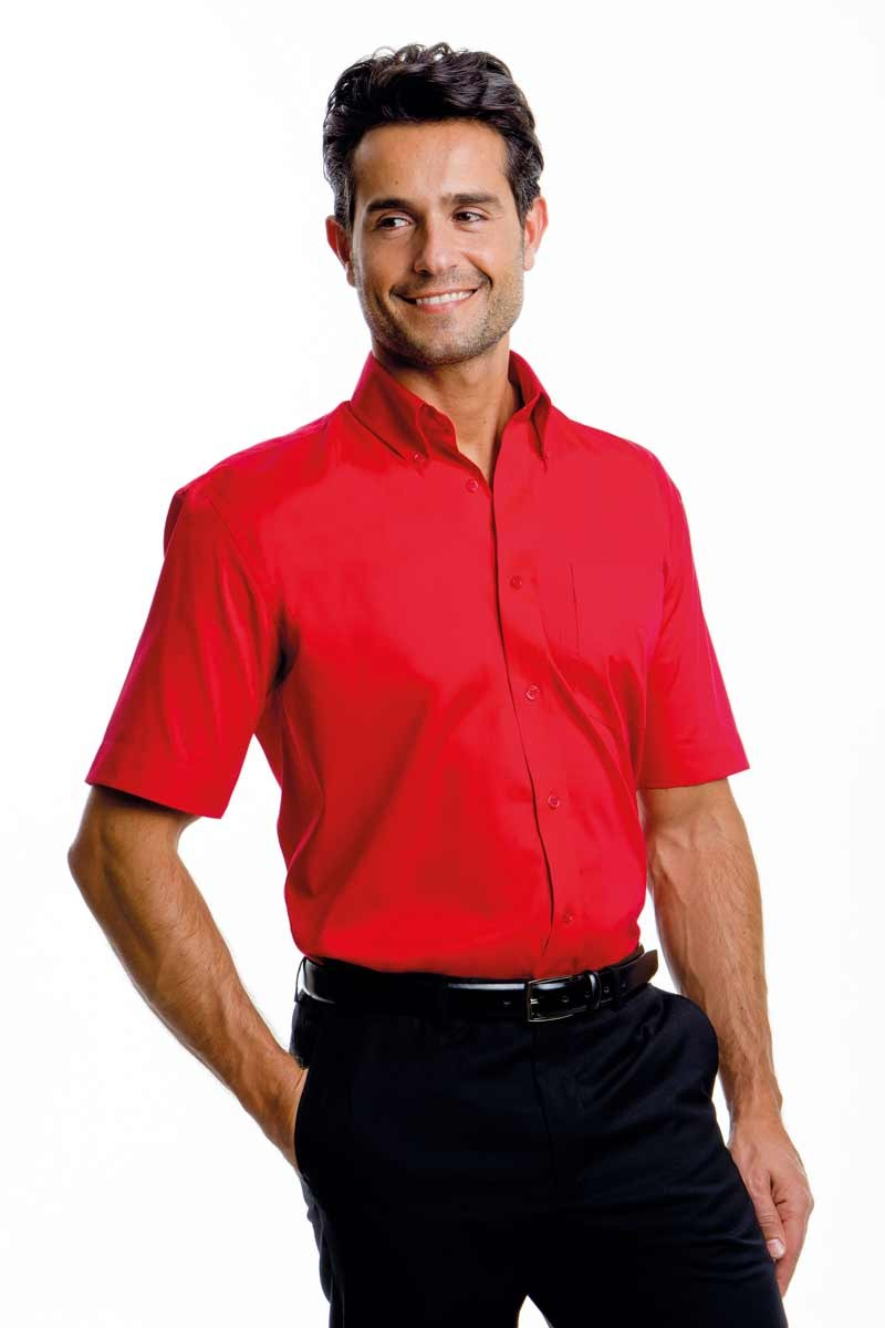 Red corporate short sleeve shirt