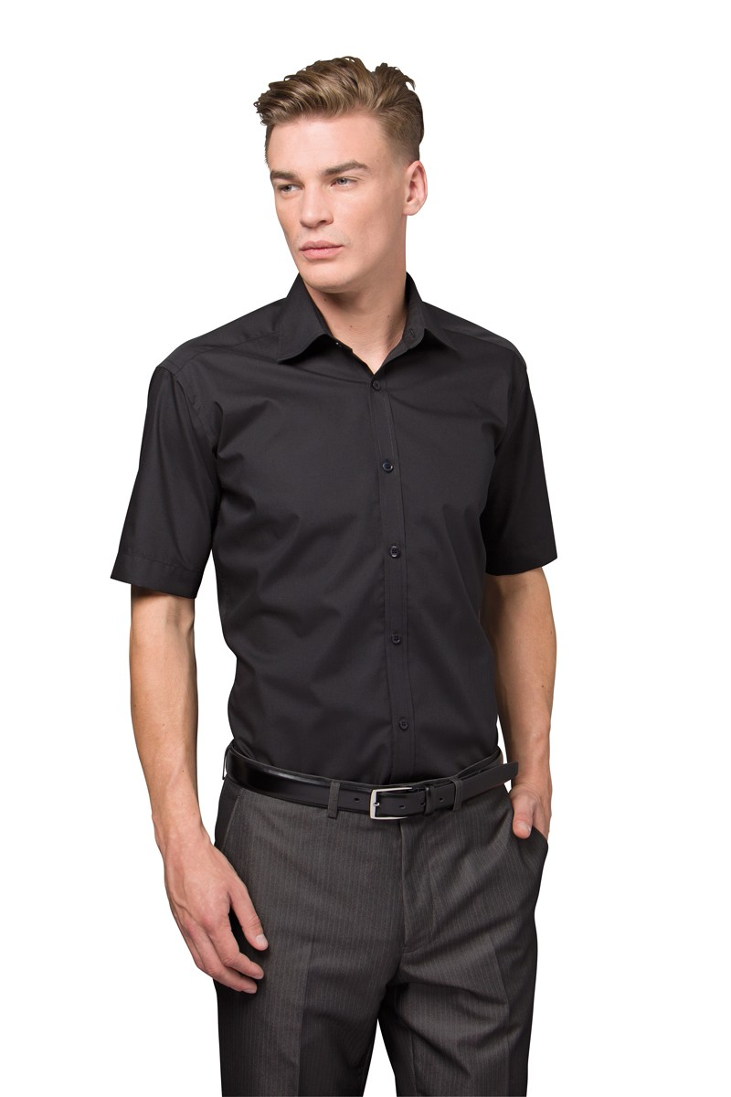 Slim-Fit S/S Business Shirt