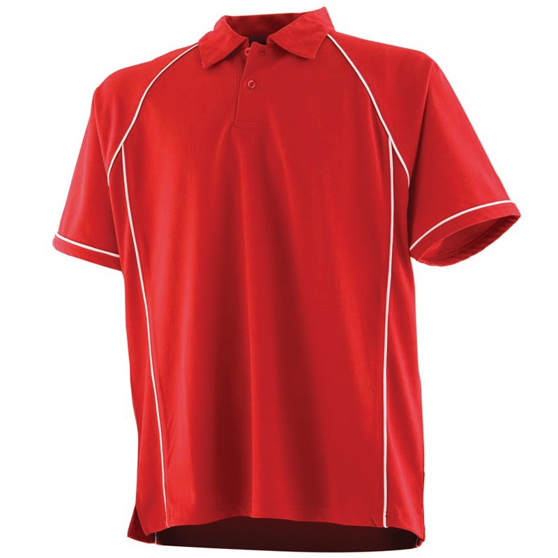 Men's Piped Performance Coolplus Polo