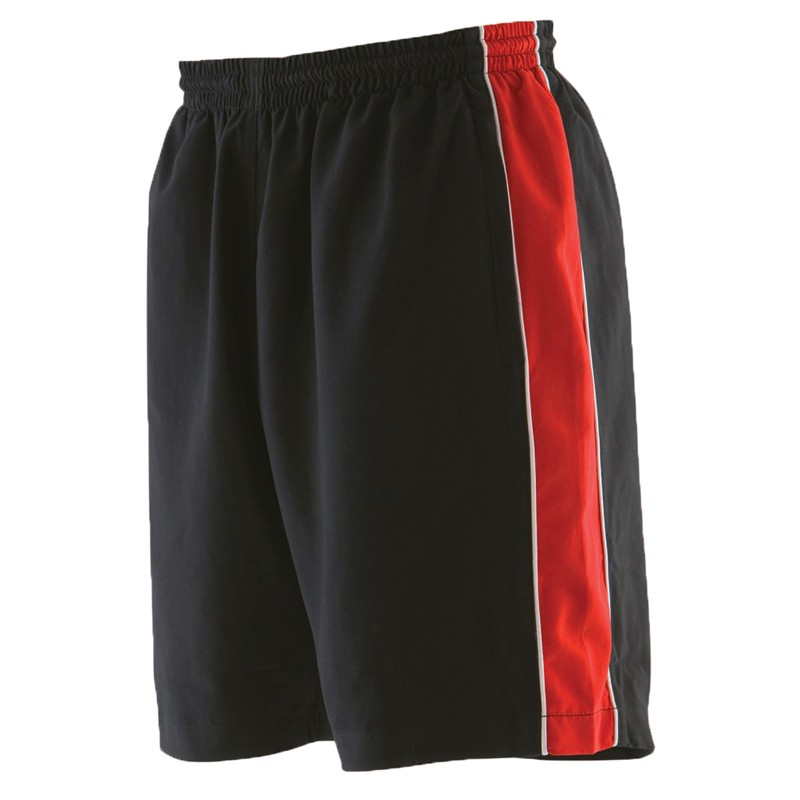 mens piped track shorts