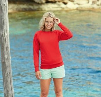 Lady-Fit Lightweight Reglan Sweatshirt