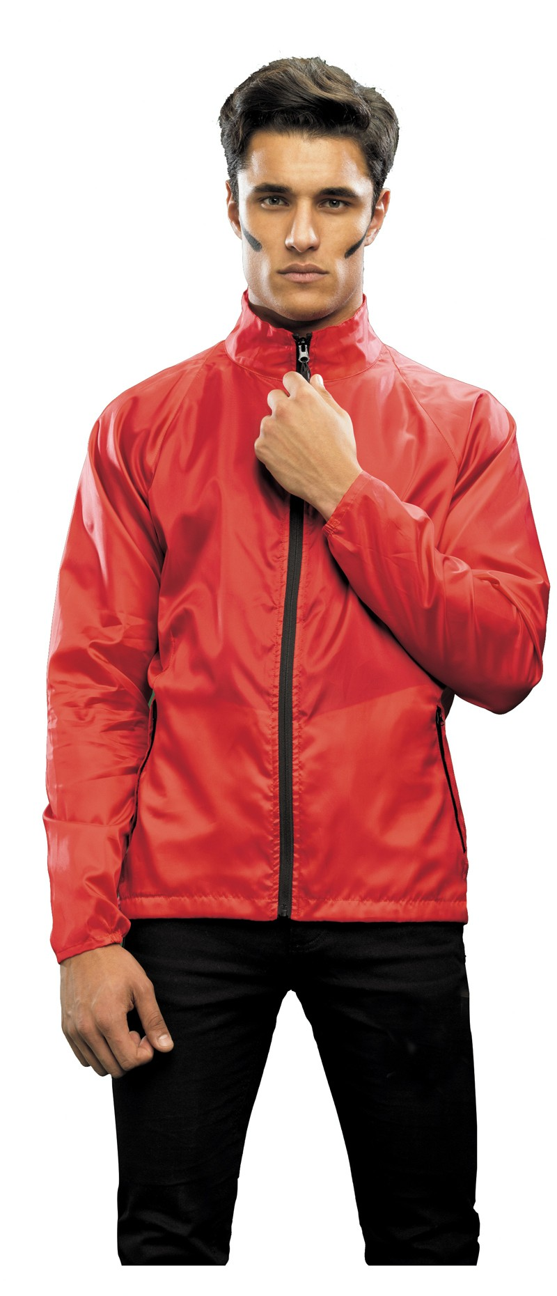 contrast lightweight jacket