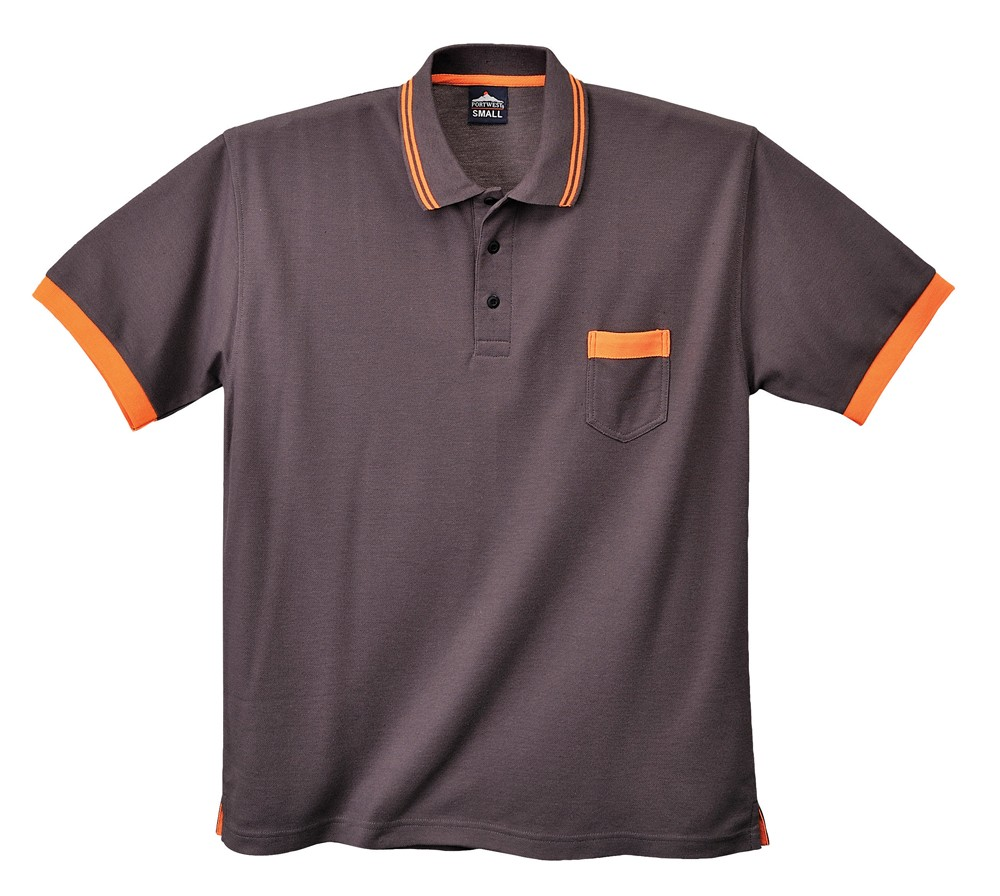 Charcoal Texo Contrast Polo Shirt