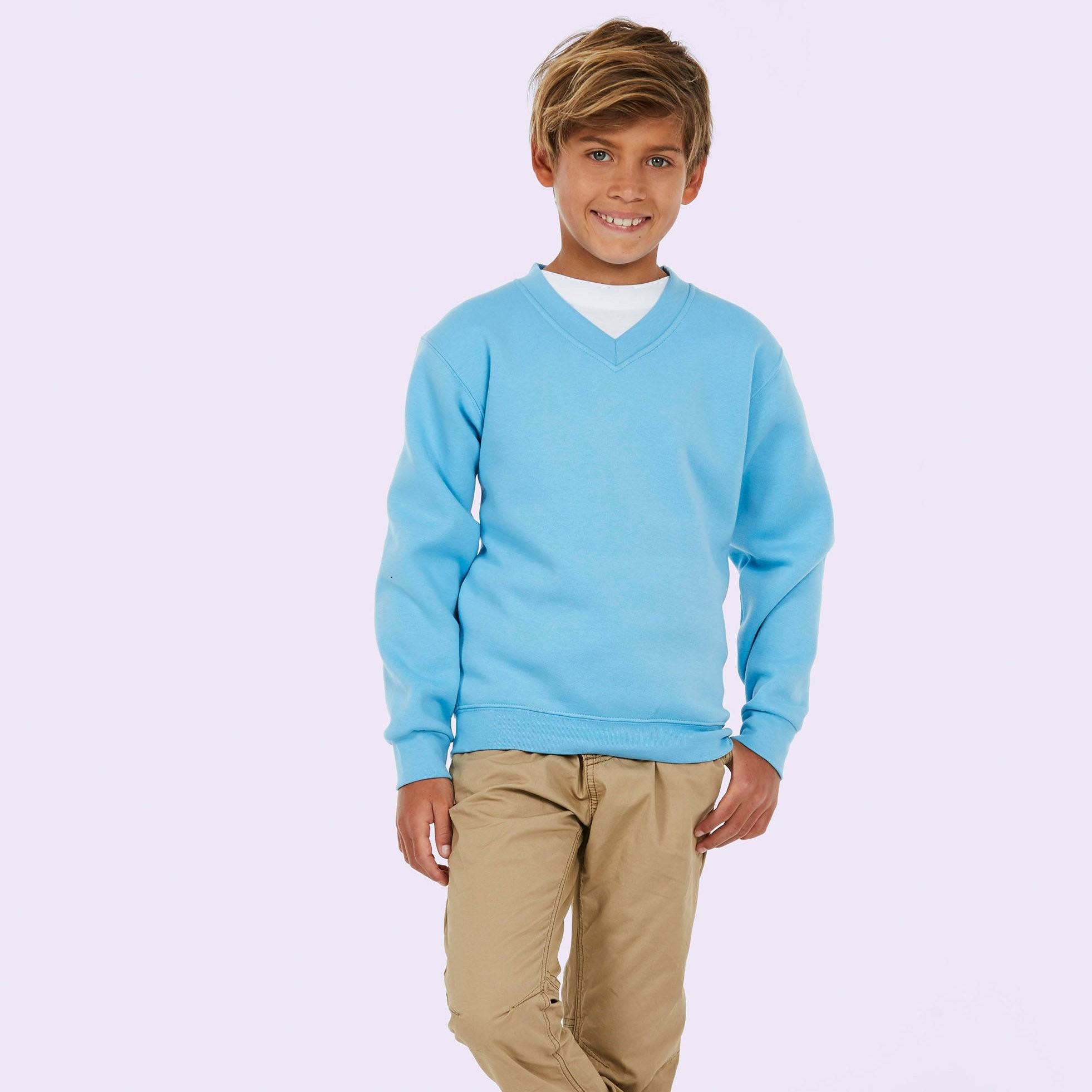 UC206 Children's v neck sweatshirt