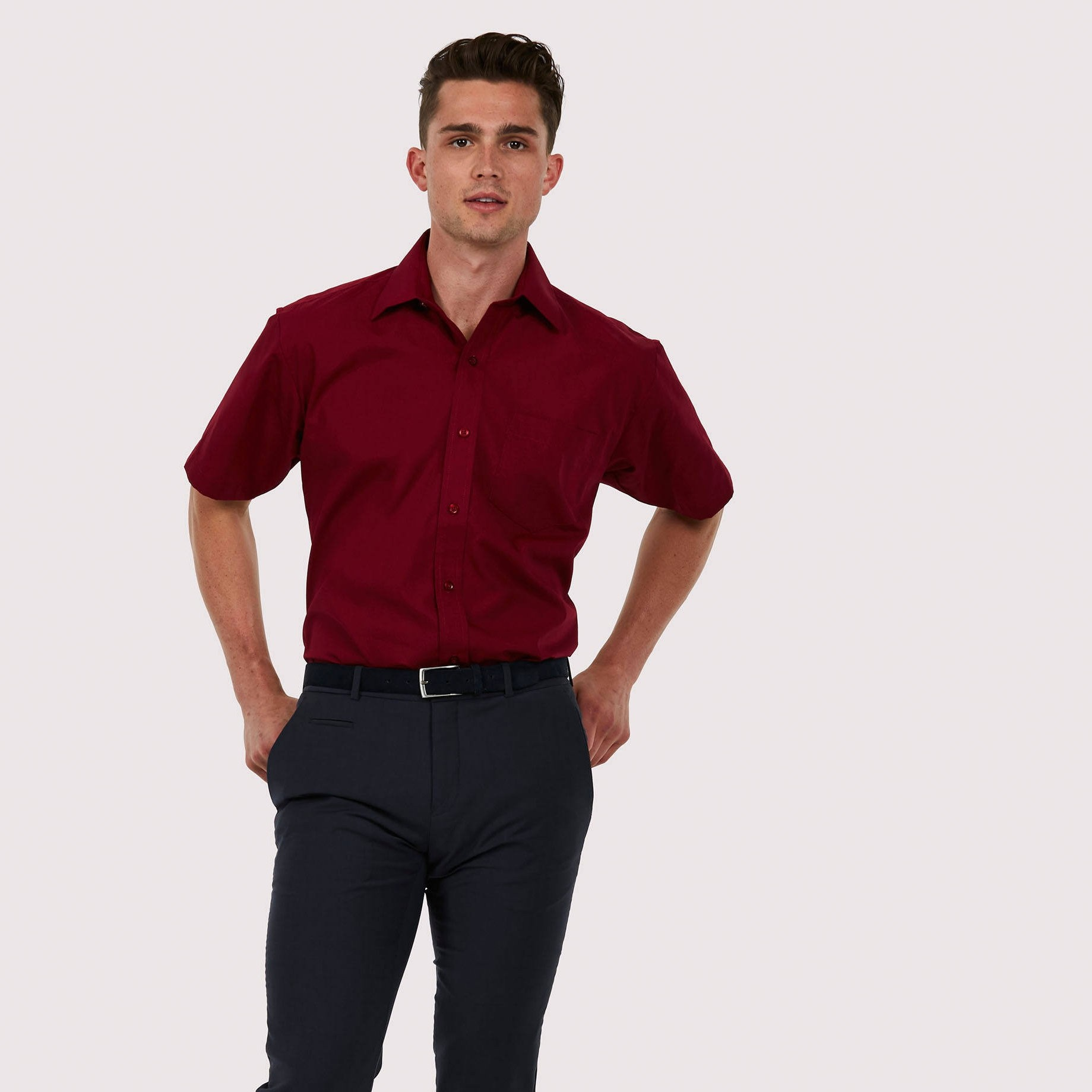 UC710  short sleeved poplin shirt