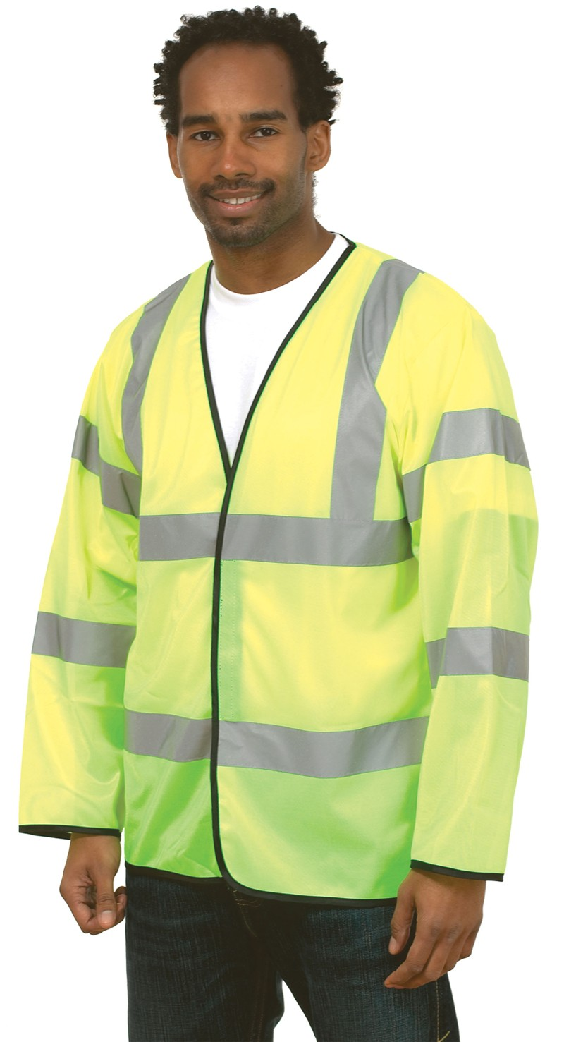 Hi-Vis Two Band & Brace LS Vest
