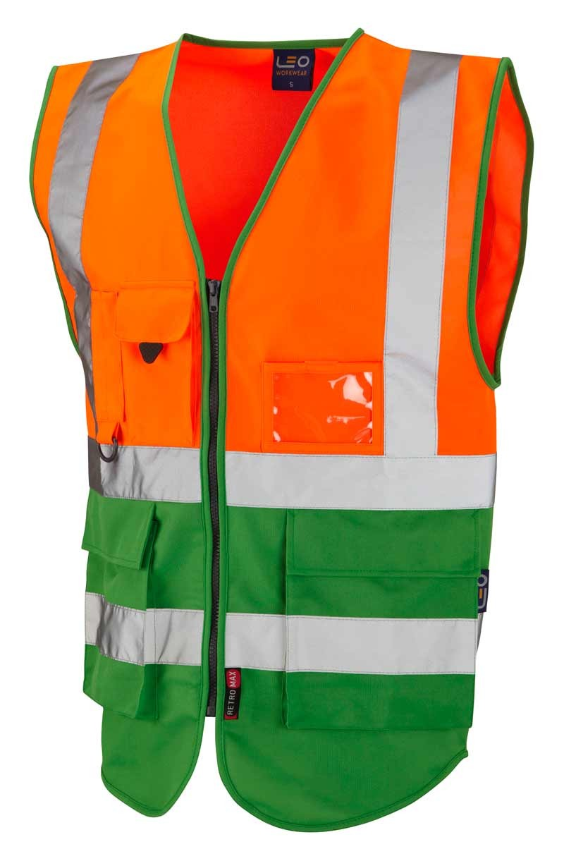 orange/green safety waistcoat