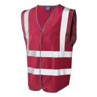 red safety waistcoat