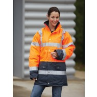 orange hi viz two tone
