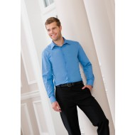 Mens L/S Fitted Poplin Shirt