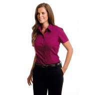 ladies corporate short sleeve blouse