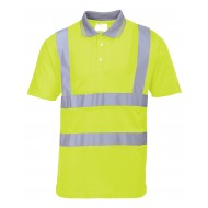 Yellow Hi-Vis Short Sleeved Poloshirt