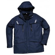 navy shell jacket