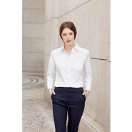 white poplin long sleeve blouse
