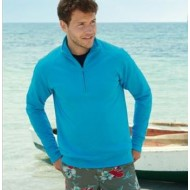 Fruit of the Loom Lightweight Zip Neck Sweatshirt