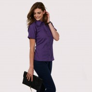 UC712 Short Sleeved poplin blouse