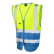 yellow/royal safety waistcoat